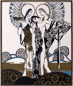 John Austen, Lithograph 1925. Everyman