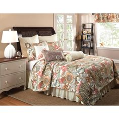 Brushed Ashore 3-piece Quilt Set and Bedskirt, Euro Sham Separates | Overstock™ Shopping - Great Deals on Quilts