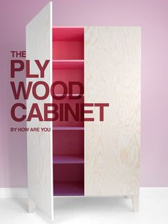 THE PLYWOOD CABINET #Ombre #Gradient #Plywood