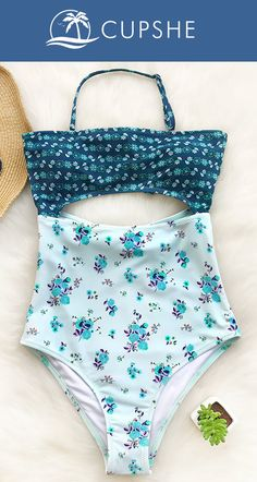Spring New Arrival! Butterfly print combined with tie at back, fashionable one-piece with cutout detailing, Cupshe Lost Butterfly Print One-piece Swimsuit, your must-try new beach look. Free shipping. Can't miss!