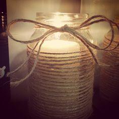 Homemade candle jar
