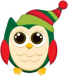 Resultado de imagen para buhos navideños animados