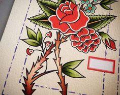 Roses Original Tattoo Flash