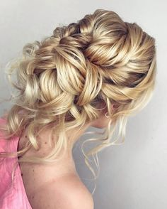 messy updo with braid wedding hairstyle  #weddinghair #weddinghairstyles #updos #messyupdos #hairstyles