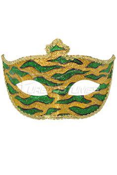 Mardi Gras Animal Print Adult Mask Gold