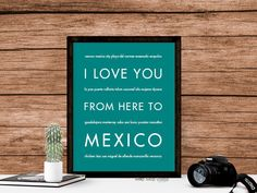 I Love You From Here To MEXICO art print