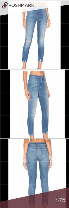 Only Skinny Jeans Kendell Zoe Damen Slim Stretch Mid Waist Hose Blue Denim Used