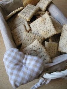 Crackers con pasta madre