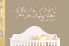 Cinderella Decal A Dream Is A Wish Your by DavisVinylDesigns