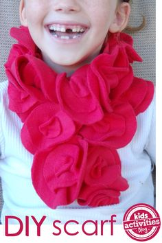 DIY Fleece Scarf That's Easy Enough for Kids to Make!