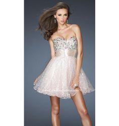 $378.00 LaFemme Short Dress at http://viktoriasdresses.com/ Through John's Tailors