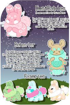 Dust Babies Species Guide - Open Species by PrinceMahou on DeviantArt