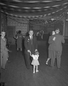 Couples dancing at the wedding of Kenneth Hoerres on October by Edmund Eisenscher. While most couples are unidentified, the little girl in the forefront may be dancing with her grandfather. Wedding Events, Weddings, Historical Society, Wisconsin, Little Girls, Dancing, October, Concert, Couples