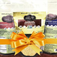 It's 12 Days of Garlic Clove Foods Gift Ideas! Day 10: Quintessential Quinoa.  Got a foodie friend who's also a bit of a health nut? We've got you covered! Our Three Bean Chili with Quinoa, Harvest Bean & Quinoa Soup, and Gluten Free Santa Fe Pilaf are packed with plant-based protein with no added salt! Who doesn't love the gift of good food that's also good for you?