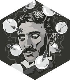 """Tesla"", The revolutionary inventor. Engineer of countless bright ideas. V ""Tesla"", Der revolutionäre Erfinder. Isaac Newton, Nikola Tesla, Science Art, Physical Science, Science Jokes, Art Drawings, Nerd, Sketches, Portrait"