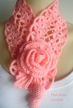 PINK ROSE CROCHET: Golinha com Flor Surprise
