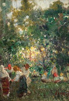 Arthur Verona, La strânsul recoltei Verona, Painting, Blouse, Art, Art Background, Painting Art, Kunst, Paintings, Blouses