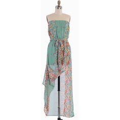 Watercolor Garden Floral Maxi Dress