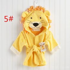 A lion hooded spa robe makes a baby's daily bathing a roaring, fun event! Great as a gift for a new mom, parents will love their babies wrapped in this adorable lion themed spa robe with tie belt. Baby Trunks, Baby Spa, Circus Baby, Baby Towel, Unique Baby Gifts, Baby Warmer, Baby Wraps, Baby Month By Month, Baby Shower Gifts