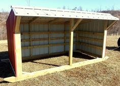 6'x12' Steel Portable Livestock Shed