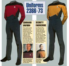 Star Trek Next Generation uniforms season 2 - full article at http://www.ex-astris-scientia.org/inconsistencies/uniforms1.htm