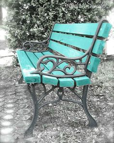 Garden Bench Painted Front Porches 68 Ideas For 2019 Wrought Iron Bench, Cast Iron Bench, Backyard Projects, Outdoor Projects, Outdoor Decor, Outdoor Ideas, Painted Front Porches, Outside Benches, Painted Benches