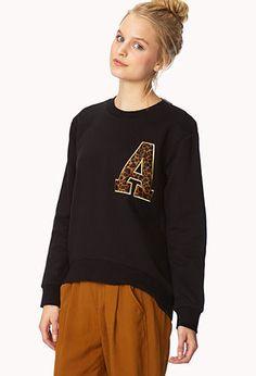 Run Wild Leopard Sweatshirt | FOREVER21 - 2000073856