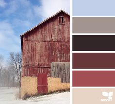 Rustic Winter - here's a great marsala palette! Scheme Color, Colour Pallette, Color Combos, Color Schemes, Color Of Life, Color Of The Year, Color Harmony, Design Seeds, Color Stories