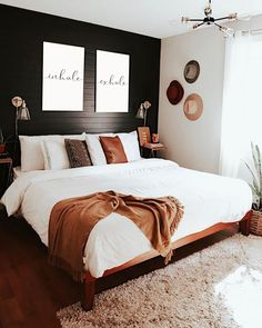 inhale exhale print, home decor, scandinavian prints, zen home - Modern decor Room Ideas Bedroom, Dream Bedroom, Home Bedroom, Bedroom Black, Bedroom Furniture, Bedroom Designs, Zen Master Bedroom, Decor Room, Bedroom Wall