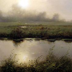"""Renato Muccillo - """"October Diffusion"""" oil, 8 x 8"""