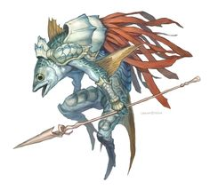 "Sahagin Knight from ""Kingdom Conquest"" by G.River"