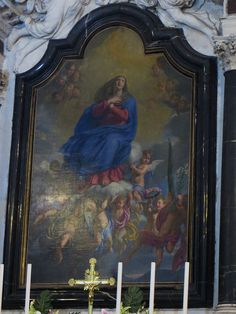 """Assomption de la Vierge"", Philippe de Champaigne, chœur, église baroque St Bruno (1611-1620), place du XI novembre, Mériadeck, Bordeaux, Gironde, Aquitaine, France. 