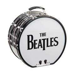 The Beatles Black and White Shaped Tin Tote 72170 Unique drum design; 8 x x Inch Metal latch closure Collapsible plastic handle Great for toting and storing or as a lunch box Ideal gift for the Beatles fan in your life Tin Lunch Boxes, Lunch Tote, Rock Collection, Ringo Starr, Discount Toms, The Beatles, Gifts For Him, Drums, Cool Stuff