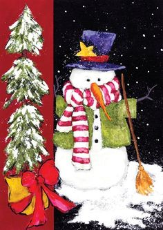 Toland Home Garden  Sweeping Snowman 125 x 18Inch Decorative USAProduced Garden Flag ** This is an Amazon Affiliate link. To view further for this item, visit the image link.