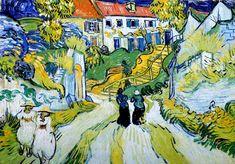 Vincent Van Gogh - Post Impressionism - Auvers - Escaliers à Auvers - 1890