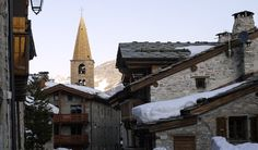 View from Val d'Isere to church