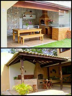 Quinchos Courtyard Design, Garden Design, Backyard Patio, Backyard Landscaping, Outdoor Spaces, Outdoor Living, Door Design, House Design, Dirty Kitchen