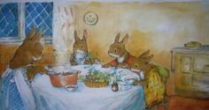 by Anna Currey (Family dinner is important even if you're a bunny.)
