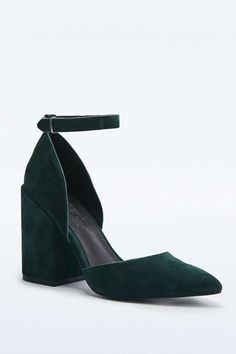 Karmen - Chaussures à talons vertes en daim