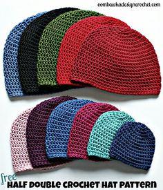 free 1/2 double crochet pattern