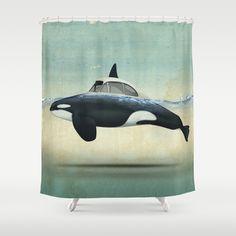 Killer whale Shower Curtain