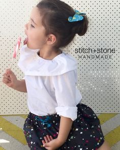 We were stoked to see how perfectly this bright and colourful @roseanddotco ponytail bow matched our Quinn skirt and Lizzy top (frill neck.. get it ). by stitch.and.stone