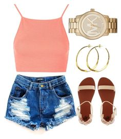 """""""Summer LookBook .. O2"""" by laurenprodteddybear ❤ liked on Polyvore featuring Topshop, Michael Kors, Rebecca Norman and 2b bebe"""