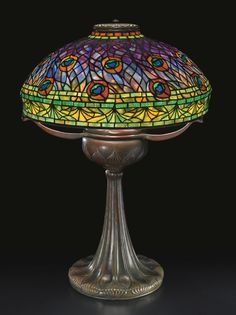 "TIFFANY STUDIOS ""PEACOCK"" TABLE LAMP CA 1905"