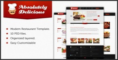 Modern clean Restaurant PSD template, With 10 PSD files, It's a template for restaurant, food, recipe business for your own restaurant, shop. You can edit, modify them to be suitable for your needs. such as, cafe, bakery shop, etc.