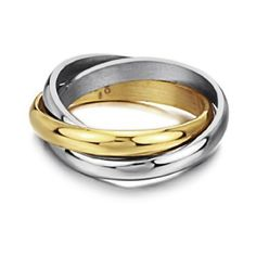 Triple Russian Interlocked Stainless Steel and Gold Plated Unisex Wedding Band Ring (Available Sizes: 5,6,7,8,9) Multi Tone Flying Colors. $11.88. Express your promise with these 316L stainless steel and gold plated wedding bands. Shiny polished finish. Two tones. Promptly packaged with free gift box