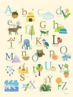 Nature's Alphabet Canvas Art