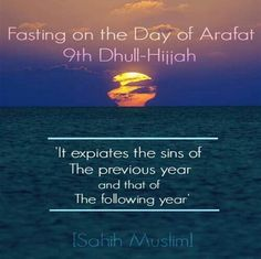Fasting on the day of Arafat