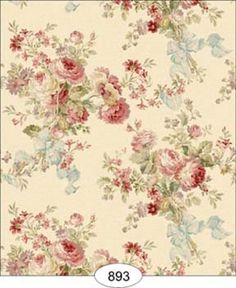 "Dollhouse Wallpaper "" Rose Floral "" #DollhousesandMore Doll House Wallpaper, Love Wallpaper, Fabric Wallpaper, Wallpaper Backgrounds, Colorful Backgrounds, Wallpapers, Vintage Diy, Vintage Paper, Vintage Images"