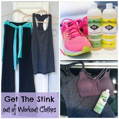 Get the stink out of yoga pants, workout wear and running gear!